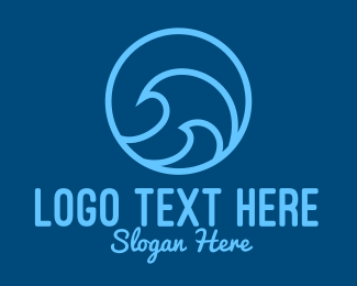 Tsunami - Ocean Surfing Waves logo design