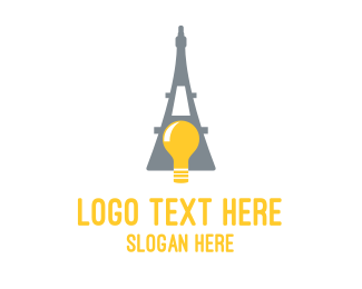 French - French Bulb logo design