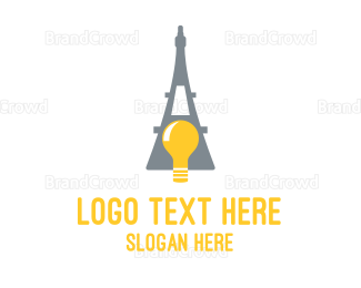 Travel Agent - French Bulb logo design
