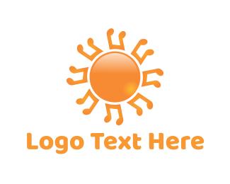 Music - Music Sun logo design