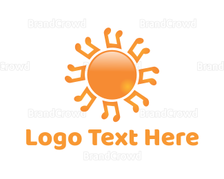 Sun - Music Sun logo design