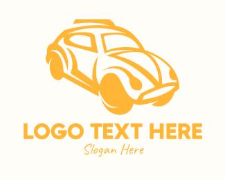 Taxi - Yellow Vintage Cab logo design