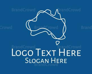 Department - Abstract Australian Continent logo design