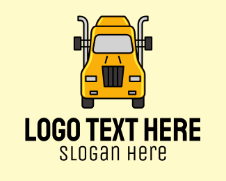 Big - Yellow Truck Transport logo design