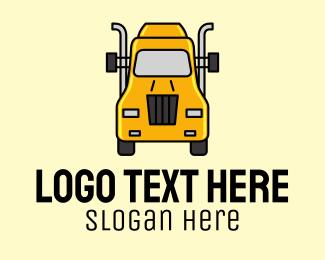 Transport - Yellow Truck Transport logo design