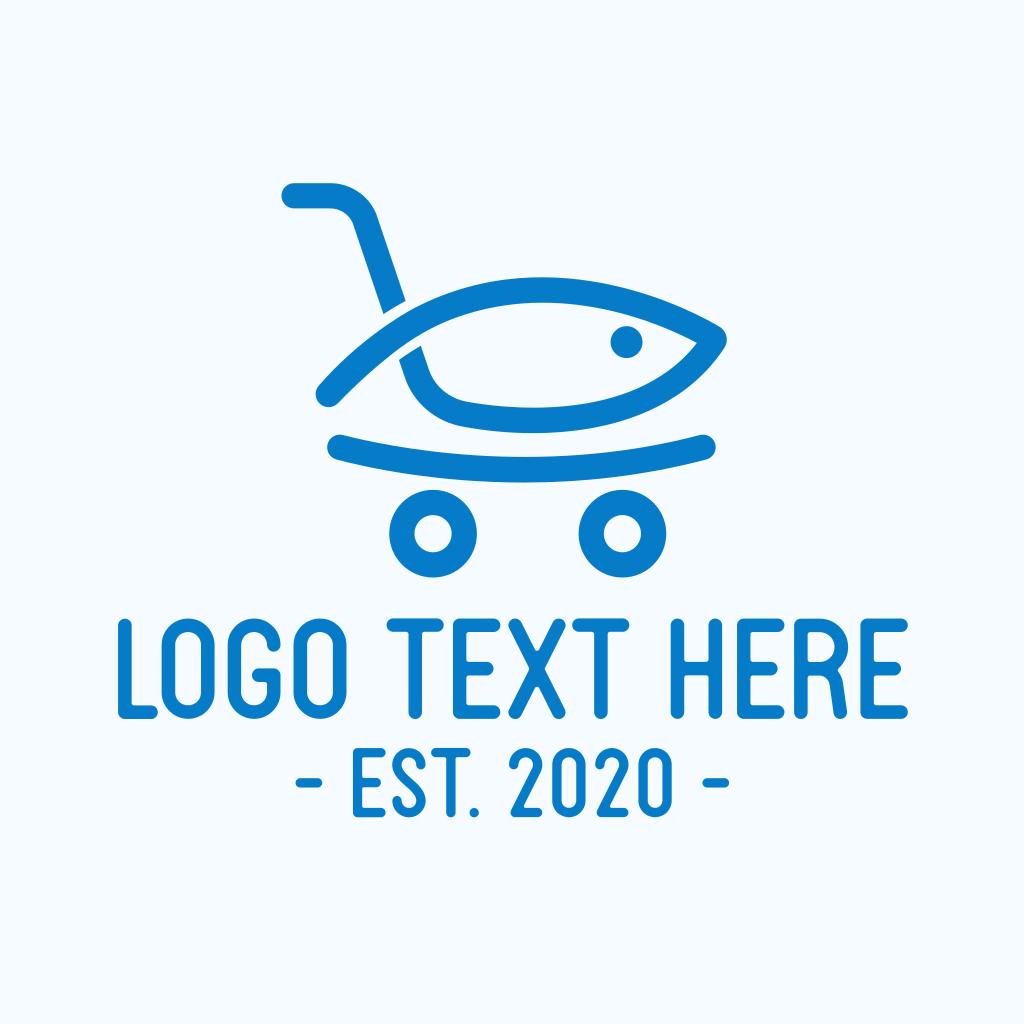 Seafood Shopping Market Logo