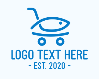 Fingerling - Seafood Shopping Market logo design