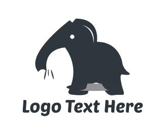 Elephant - Black Elephant logo design
