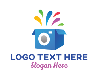 Carton - Photography Photo Booth Box logo design