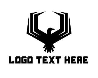 Black Bird - Hexagon Falcon Gaming logo design