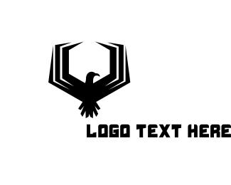 Falcon - Hexagon Falcon Gaming logo design