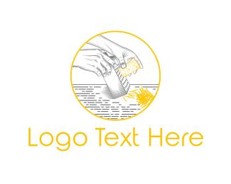 Cheddar - Cheese Grater logo design