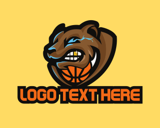 Growl - Grizzly Basketball logo design
