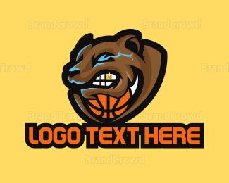 Basketball Team - Basketball Sport Bear Mascot logo design