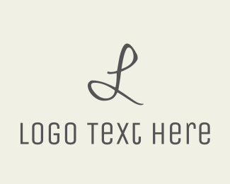 Model - Grey Letter logo design