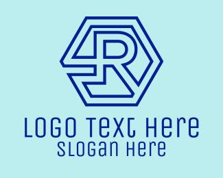 Technical - Digital Letter R logo design