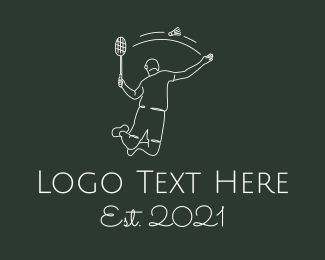 Player - Professional Badminton Player logo design