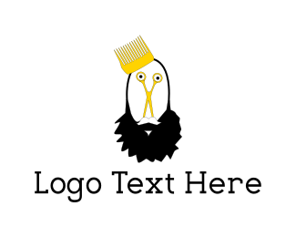 Scissors - Beard King logo design