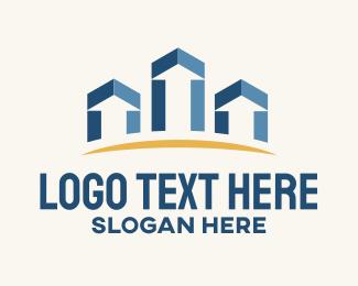 Increase - Growth Buildings logo design