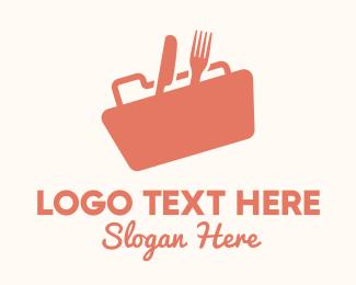 Food Store - Orange Food Files logo design