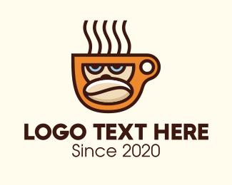 Gorilla - Gorilla Coffee Bean Cup logo design