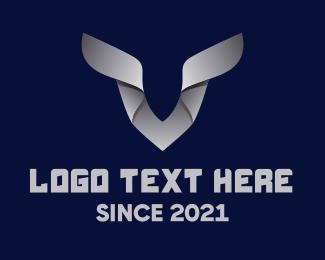 Horns - Silver Deer Horns logo design