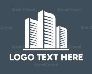 White - White Buildings logo design