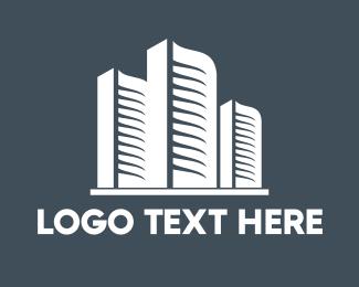 Skyscraper - White Buildings logo design