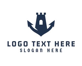 Fortress - Marine Fortress logo design