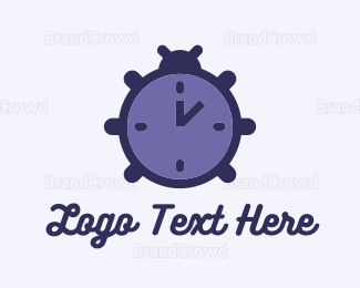 Beetle - Time Beetle logo design