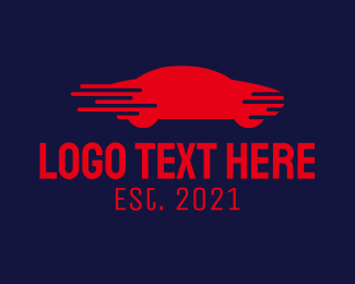 Gas Station - Red Fast Car logo design
