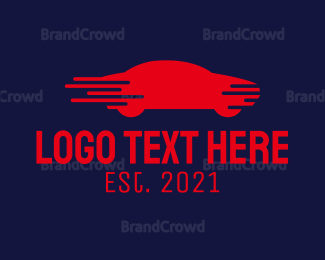 Car Racing - Blue Fast Car logo design