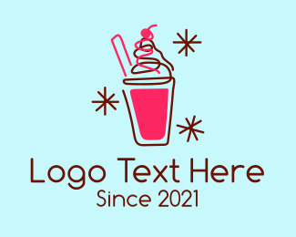 Milkshake - Fruity Milkshake Beverage logo design
