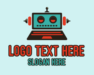 Laptop - Robot Laptop logo design