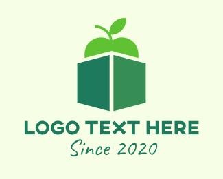 Package - Green Organic Apple Box logo design