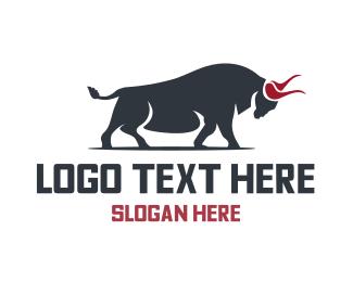 Wall St - Wild Bull logo design