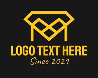 Jewelry Boutique - Diamond Letter M logo design