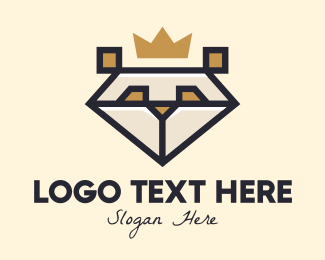 King - King Bear Character logo design