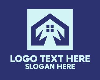 Real - Blue House Real Estate  logo design
