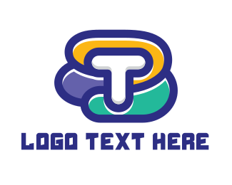 Startup - Colorful T Shape logo design
