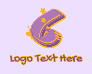 Record Producer - Graffiti Star Number 6 logo design