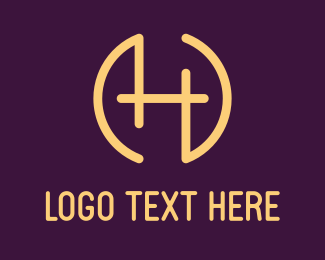 Centered - Letter H Circle logo design