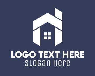 Chimney - Geometric White House logo design