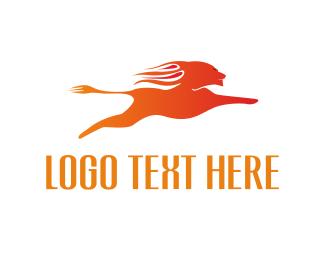Hunt - Flame Lion logo design