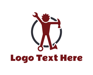 Construction Company - Tool Man logo design