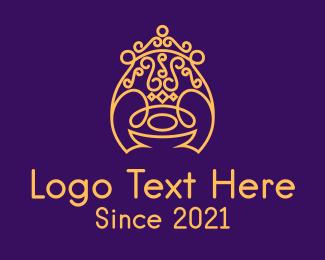 Crown - Golden Throne logo design