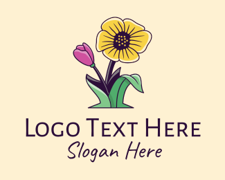 Flowers - Natural Wild Flowers  logo design