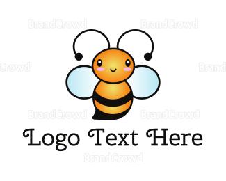 Baby Clothes - Baby Cute Bee logo design
