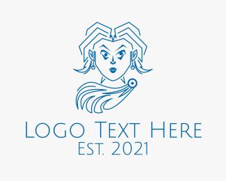 Actor - Greek Fashion Mascot logo design