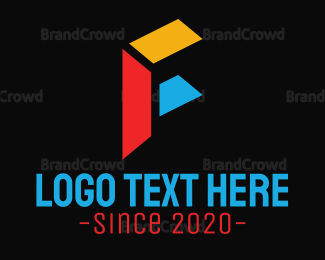 Blocks - Abstract Letter F logo design